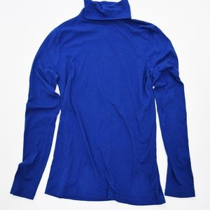 J. Crew NWT Royal Blue Tissue Turtleneck Top M